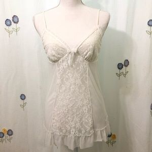 NWT DKNY Sexy Pure White Lingerie Teddy